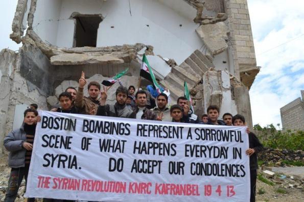 Hommage de la Syrie à Boston